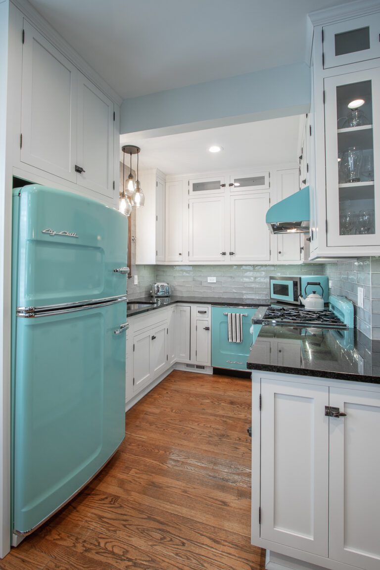 Retro White Designer Kitchen